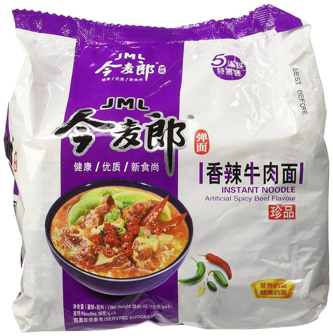 JML INSTANT NOODLE Artificial Spicy BEEF FLAVOR-5 small bags