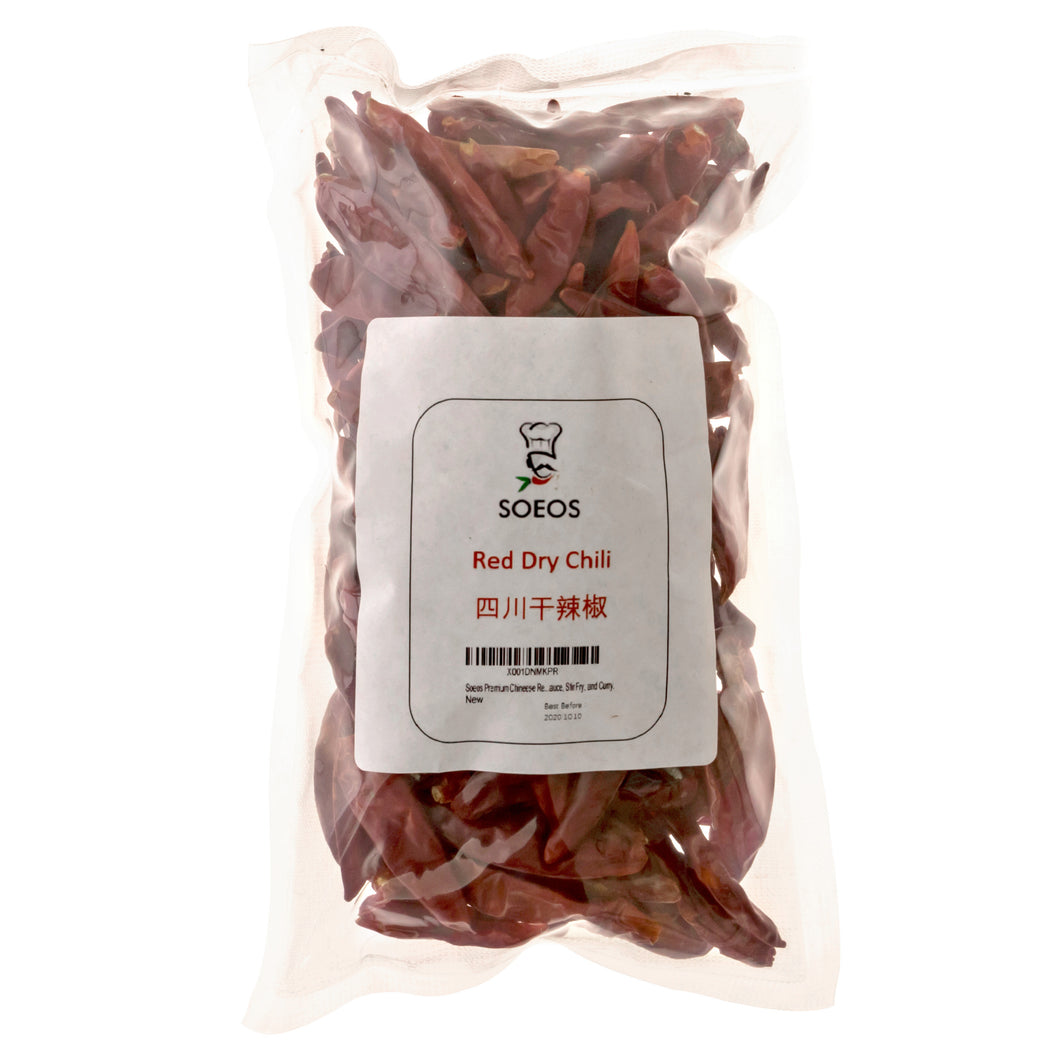 Soeos Premium Sichuan Chili (4OZ), Szechuan Dried Chilies , Chineese Red Dried Chile Peppers.