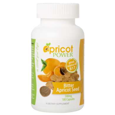 Apricot Power Bitter Apricot Seed, 500mg, 180 Capsules.