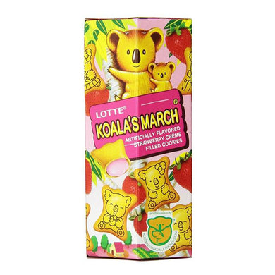 Lotte Koala's March Strawberry Cookies, 1.45-Ounce  (Pack of 12)