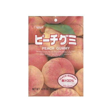 Kasugai Peach Gummy Candy 3.77oz