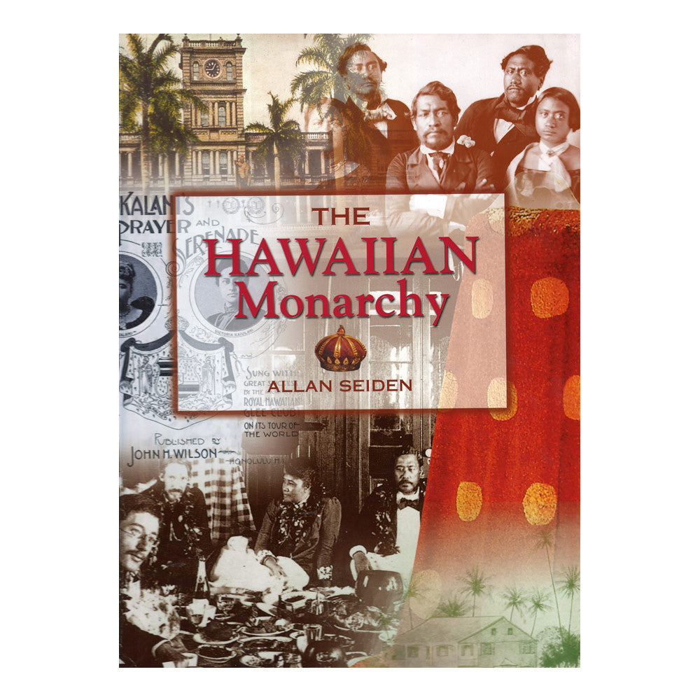 Book cover is a photo collage of archival images of the Hawaiian monarchy.
