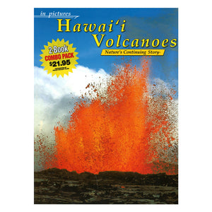 Book cover shows a red scene of erupting lava from Kīlauea volcano against a blue sky, with a dark lava plain foreground.