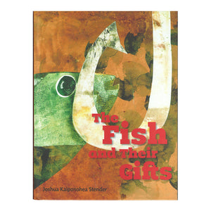 Book cover shows fish hook, fish, in stylized art.