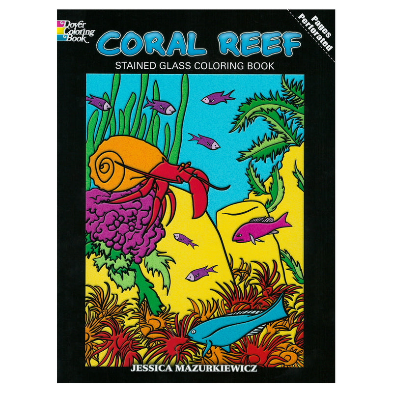 Coral Reef Stained Class Coloring Book