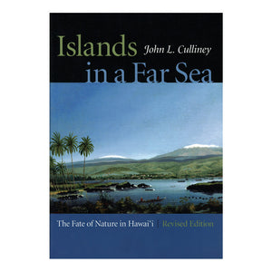 Cover image shows archival painting of Hilo Bay on Hawaiʻi Island with the snowcapped summit of Mauna Kea in the distance and palm trees in the foreground. Book title in green and blue in a black bar across the top.