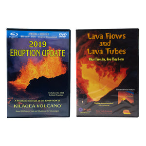 DVD: 2019 Eruption Update & Lava Flows and Lava Tubes (Dual Pack)