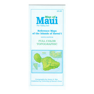 Map: Reference Map of the Islands of Maui: Ninth Edition