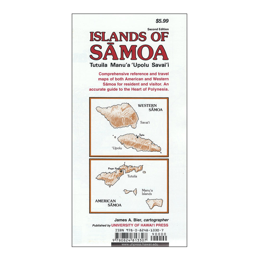 Map Island Of Samoa Hawaii Pacific Parks Association