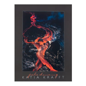 Poster image is of entertwined red lava flows that appear to make the shape of a woman, perhaps the volcano deity Pele, dancing with her arms thrown wide above her head.