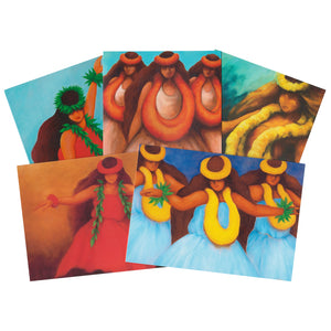Notecard Set: Hula Images