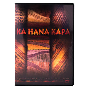 Book cover shows beautiful examples of Hawaiian kapa in purples, oranges, pinks and soft browns.