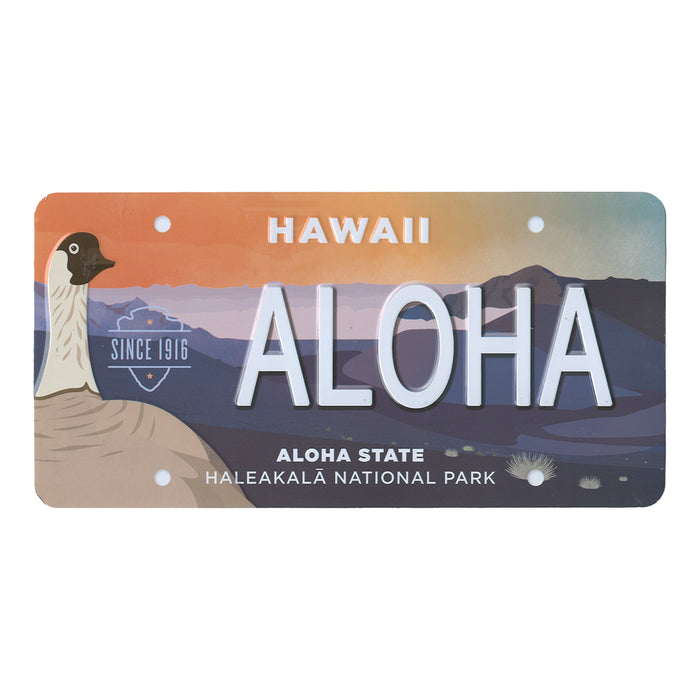 Metal Postcard: Haleakalā National Park License Plate