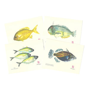 Notecard Set: Indigenous Fish of Hawaiʻi Hamoa