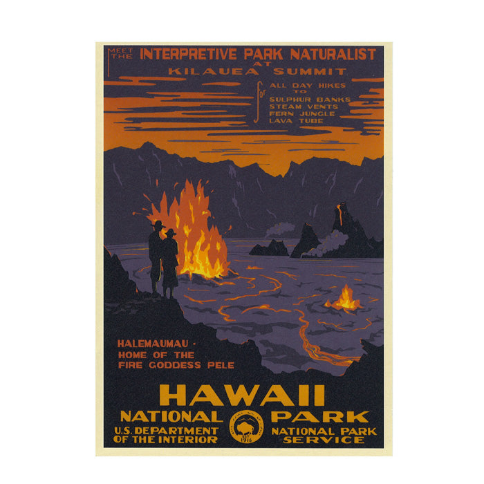 Postcard: WPA Style Hawaiʻi Volcanoes National Park
