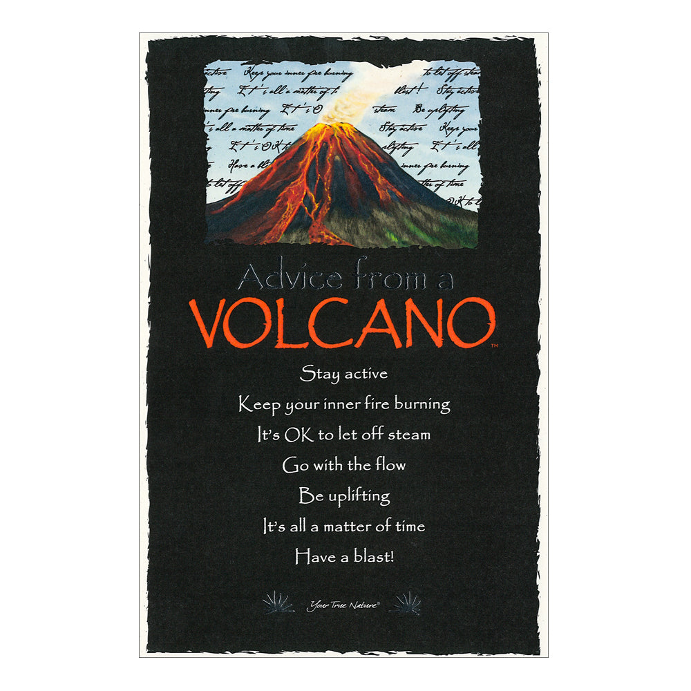 Postcard: Advice from a Volcano