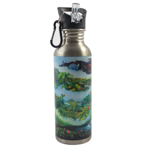 Stainless Steel Water Bottle: Haleakalā Mural