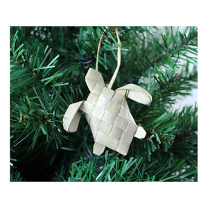 Handwoven Lauhala Holiday Ornament - Sea Turtle (Small Honu)