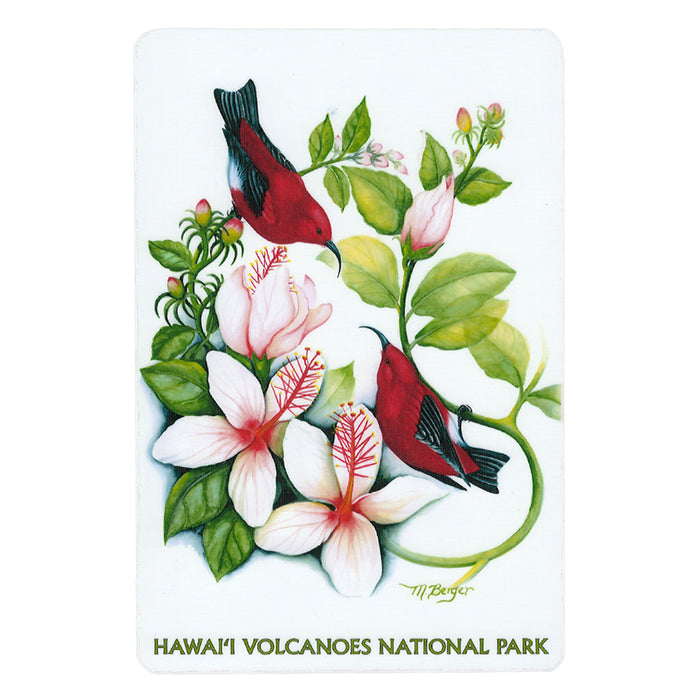 Sticker: ʻApapane in ʻŌhiʻa