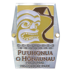 Hiking Medallion: Puʻuhonua o Hōnaunau National Historical Park Logo