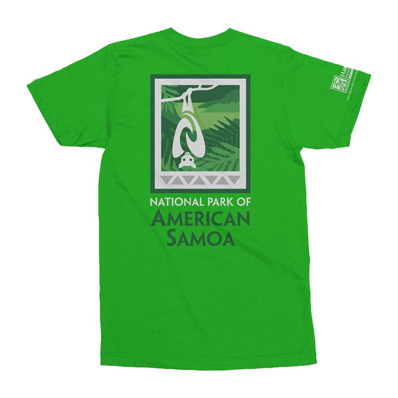 National Park of American Samoa T shirt is a green shirt