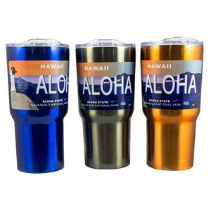 Travel Mug- Haleakalā National Park License Plate