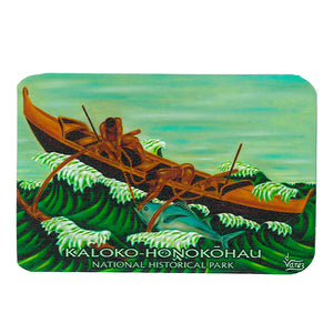Sticker: Fishing Canoe