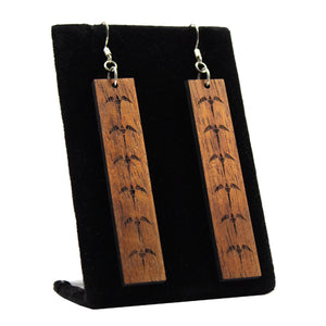 Koa Earrings: Iwa