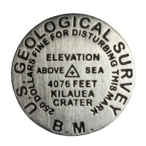 Lapel Pin: Kīlauea Crater Bench Mark Medallion