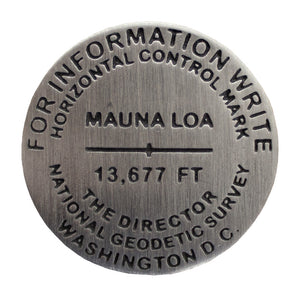 Lapel Pin: Mauna Loa Bench Mark Medallion
