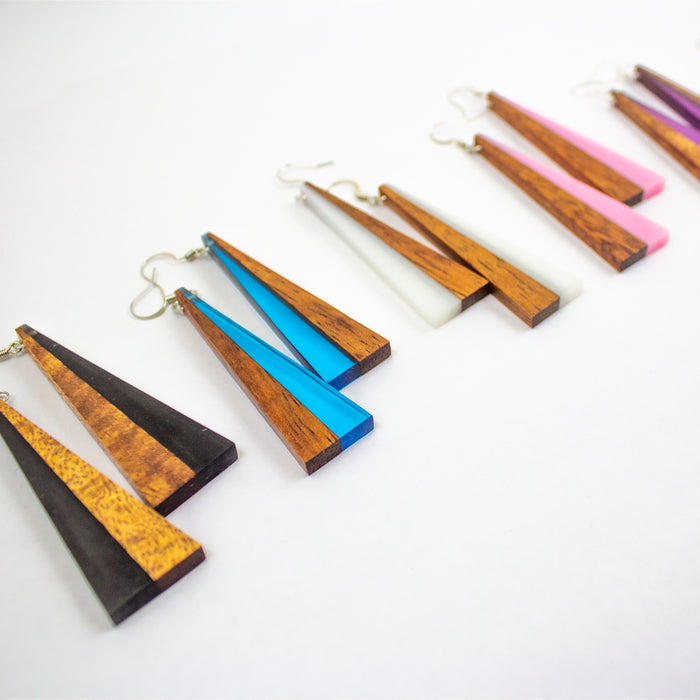 Earrings: Koa Resin