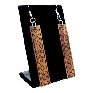 Koa Earrings: Fish Scales
