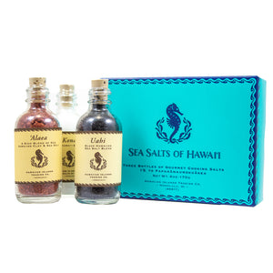 Three Bottle Hawaiian Sea Salt Sampler Gift Box