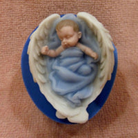 LTB Sleeping Baby Angel 3D Silicon Soap Mold