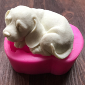 LTB Sleeping Dog Silicon Soap Mold