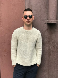 Brooklyn tweed hand knit cobblestone pullover