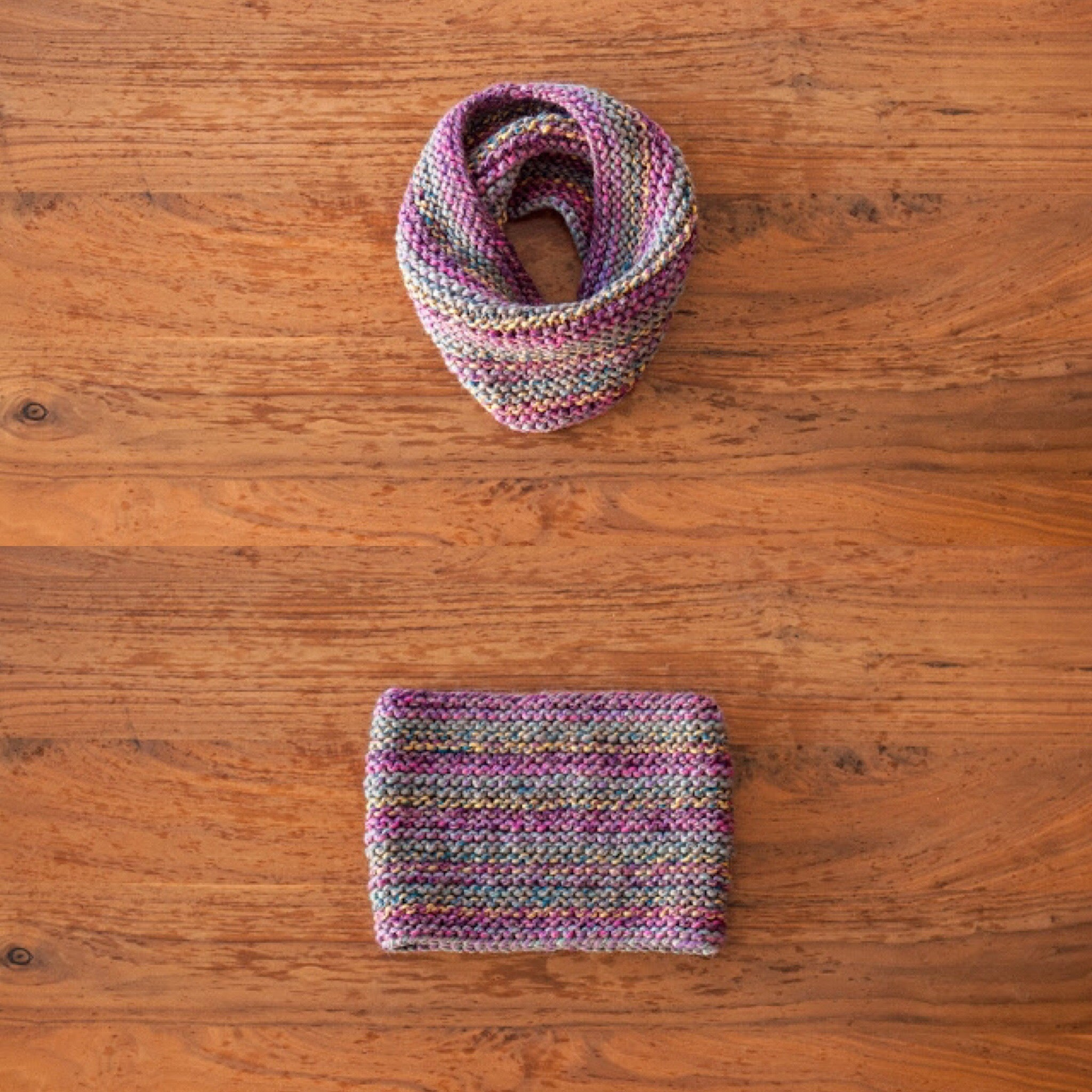 Easy Garter Stitch Cowl Pattern