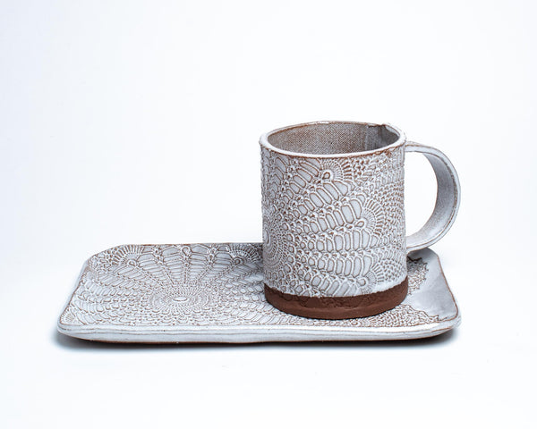 Boheme Lace Tea Tray