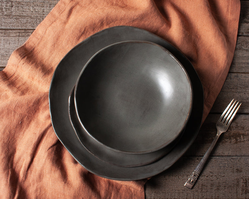 Charcoal Shino Dinnerware Set