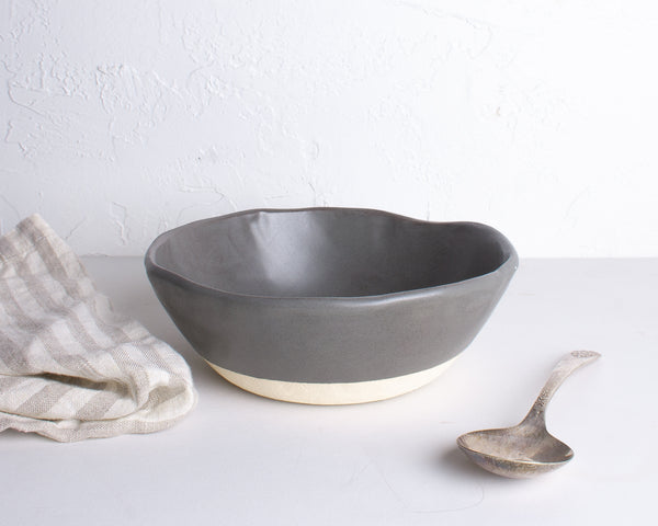 Charcoal Shino Porridge Bowl
