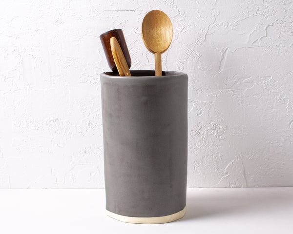 Charcoal Shino Utensil Vase