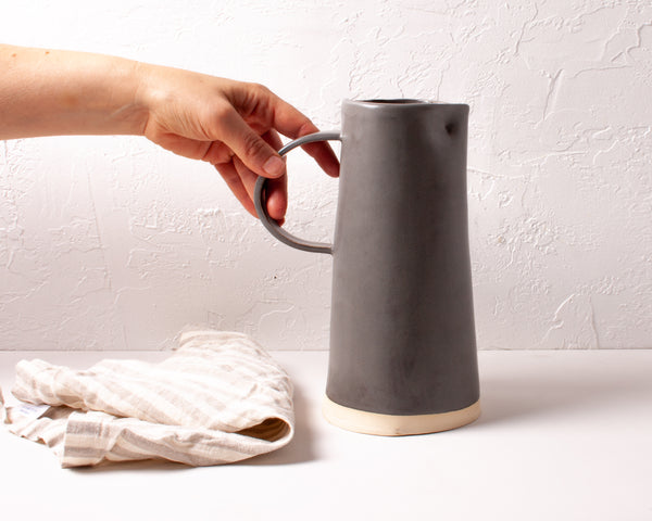 Charcoal Beverage Pitcher
