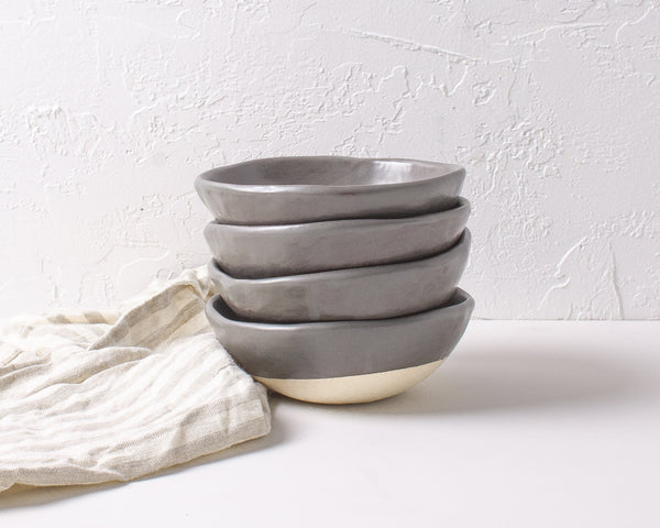Charcoal Shino Ice Cream Bowl