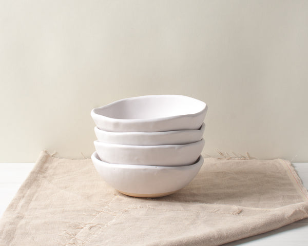 White Matte Ice Cream Bowl