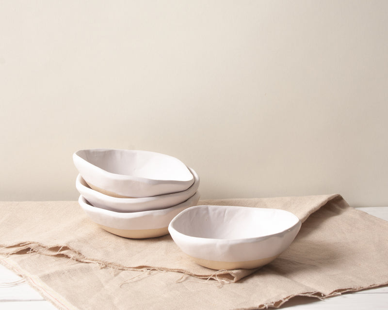 White Matte Snack Bowl