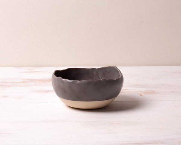 Charcoal Shino Large Spice Dish