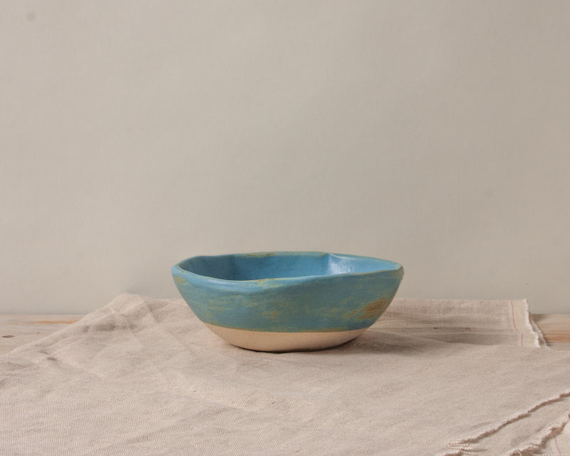 Vintage Inspired Ice Cream Bowl in Dusk Blue Handmade Organic Stoneware Ceramic Pottery