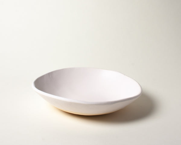 White Matte Soup Bowl Handmade Organic Stoneware Ceramic Pottery Dinnerware Serving Dish