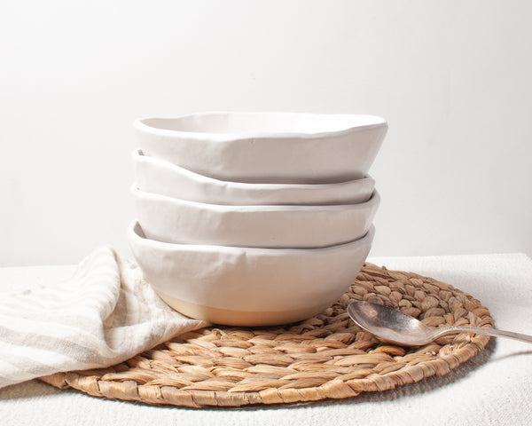 White Matte Porridge Bowl