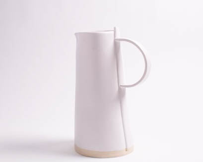 White Matte Beverage Pitcher